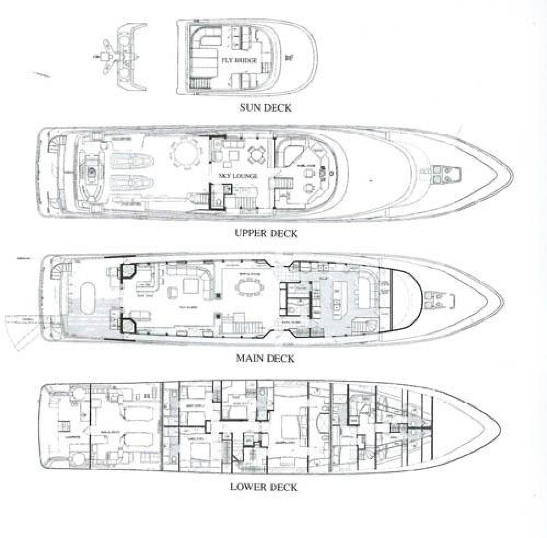 1998 Delta Marine 124' Tri-Deck MY MURPHY'S LAW   Picture 5 of 24