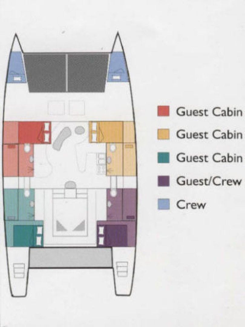 1999 Catamaran Custom Commercial Term Charter 60' Catamaran 60 No Name | Picture 2 of 16