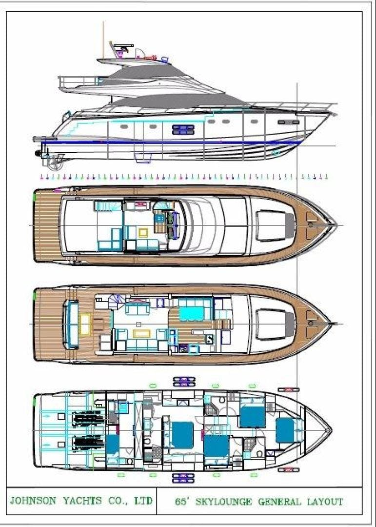2017 Johnson 65' 65 SkyLounge M/Y    Picture 7 of 15