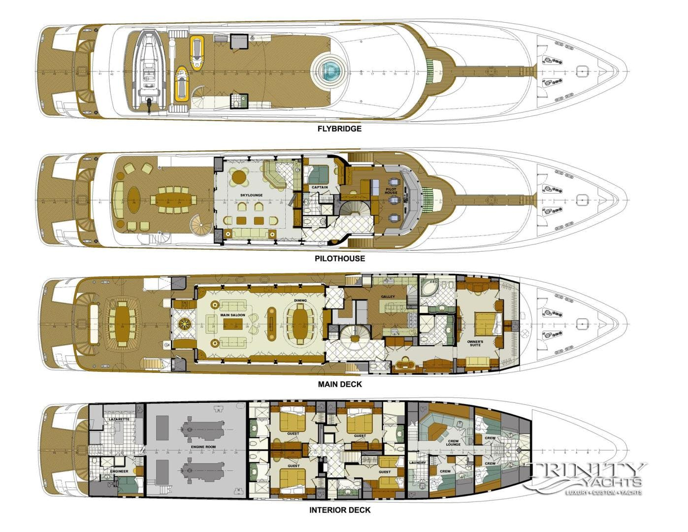 2006 Trinity Yachts 157' Tri-Deck MY NEVER ENOUGH | Picture 7 of 39